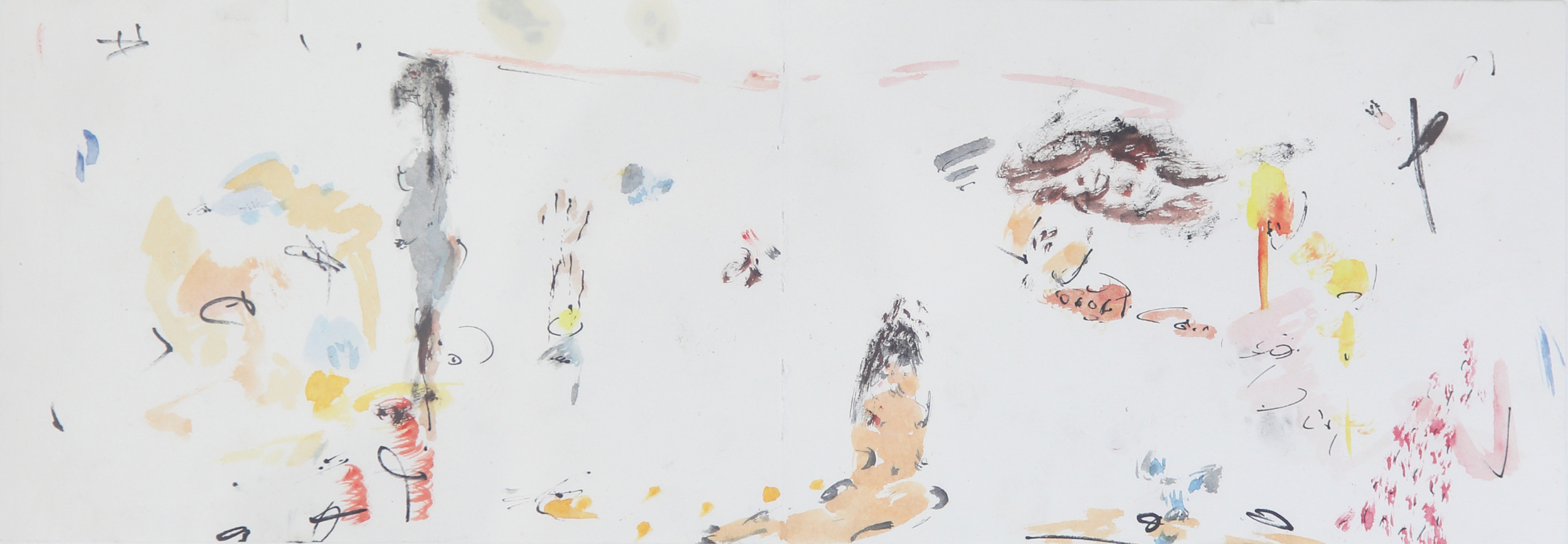 Shen Han 沈翰 No title, 2016 Watercolor on paper 39x13.5 cm
