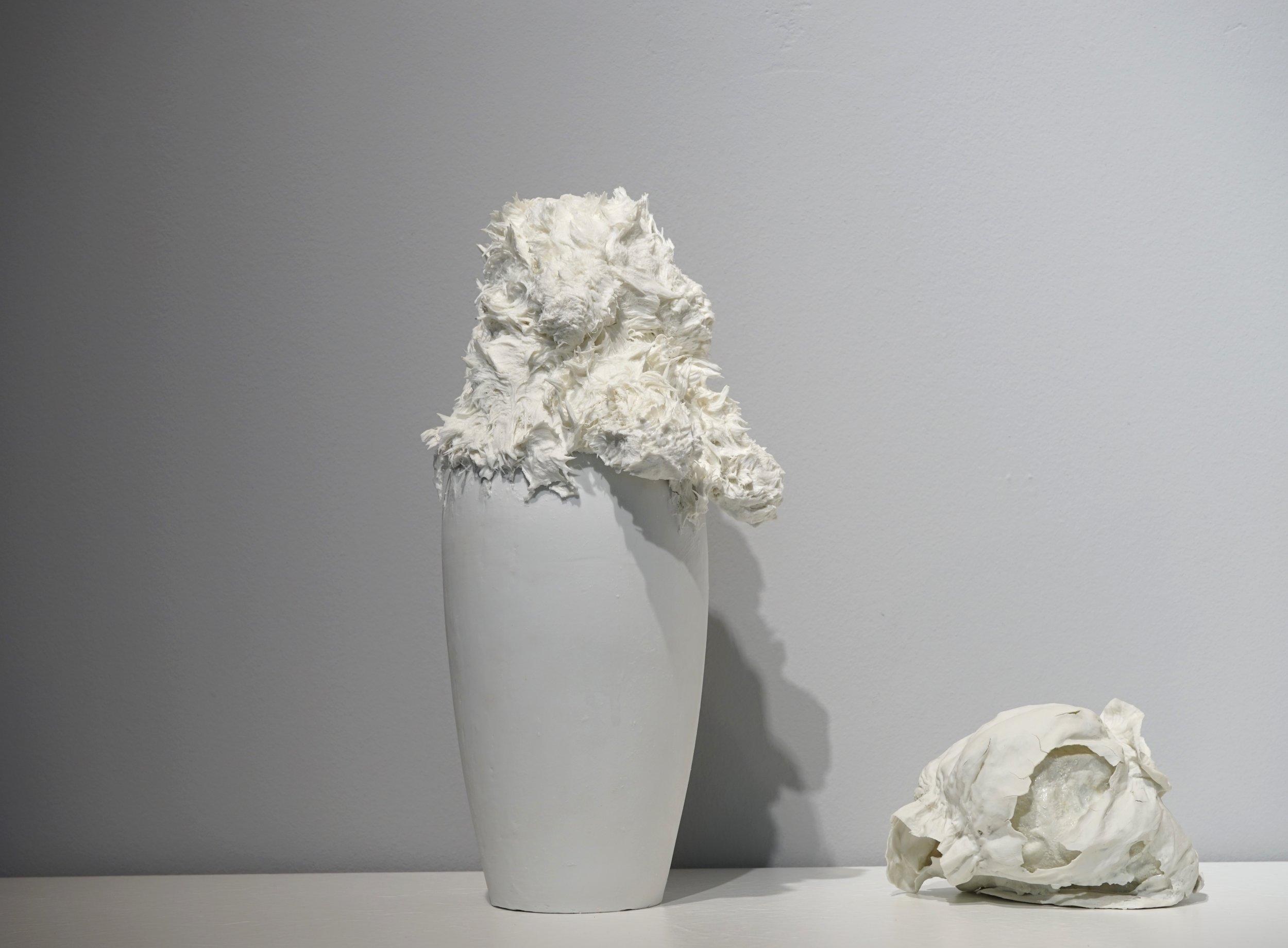 Corks and diapers  (detail) ,  2016, porcelain, variable dimension / Vase ♯1, 32cm x 20cm Φ