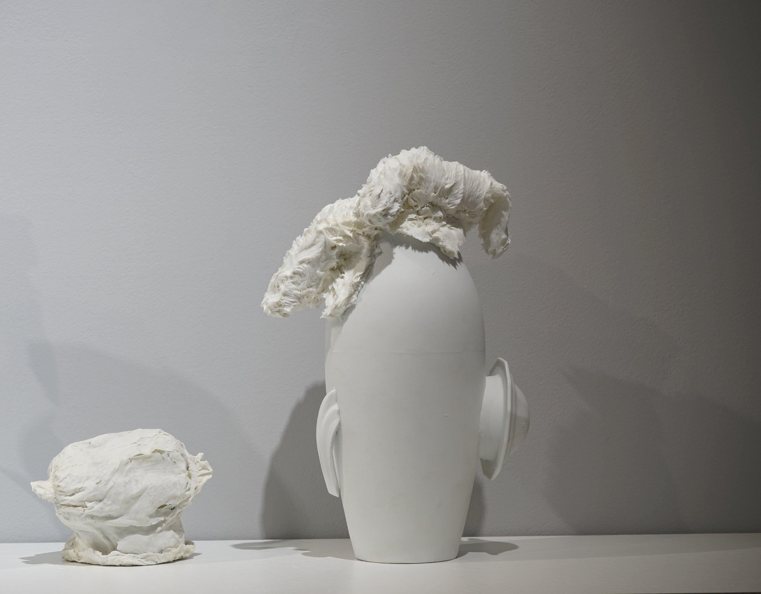 Corks and diapers  (detail) ,  2016, porcelain, variable dimension / Vase ♯5, 32cm x 20cm Φ