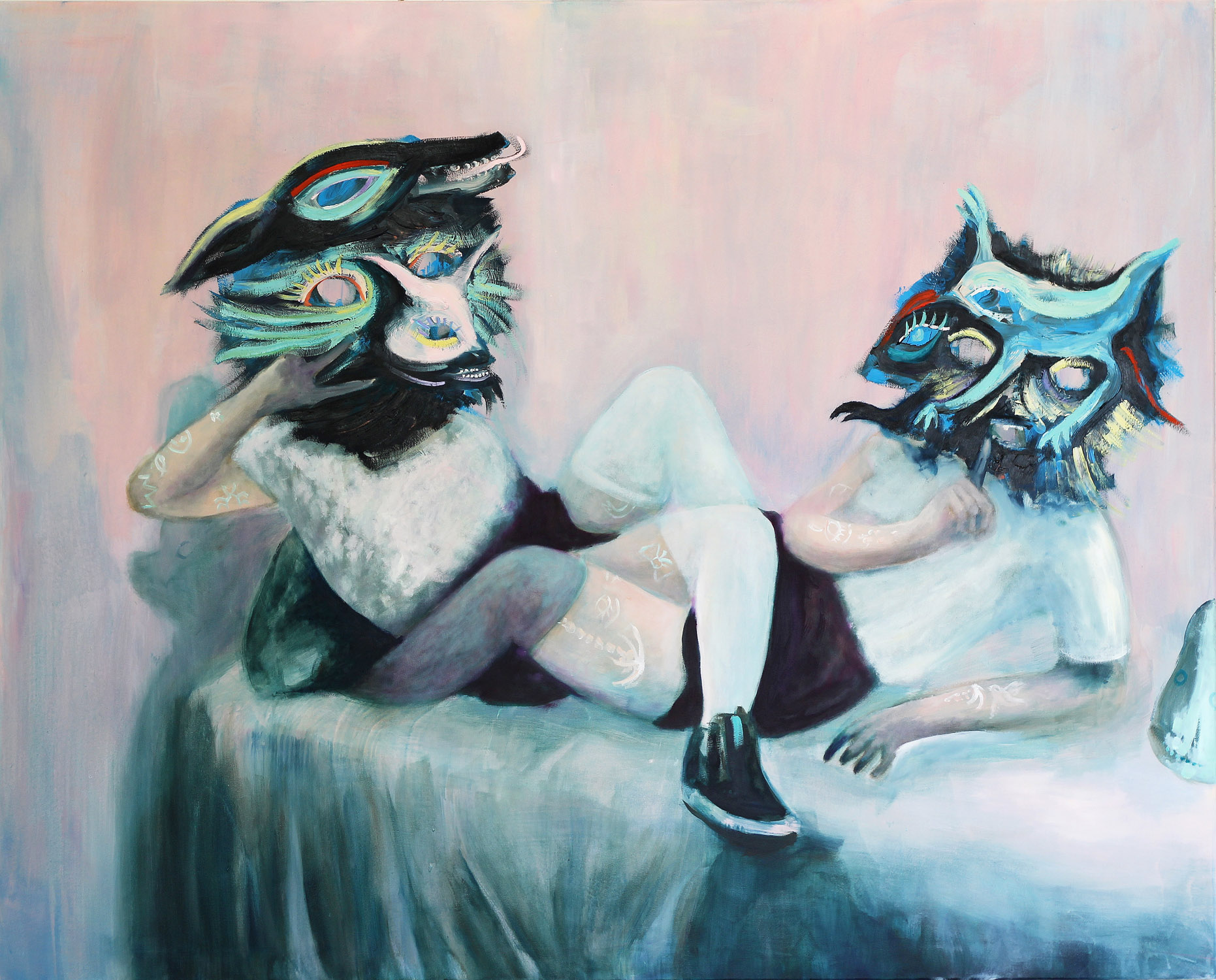 Pet Party , 2015, oil on canvas, 120 x 150 cm
