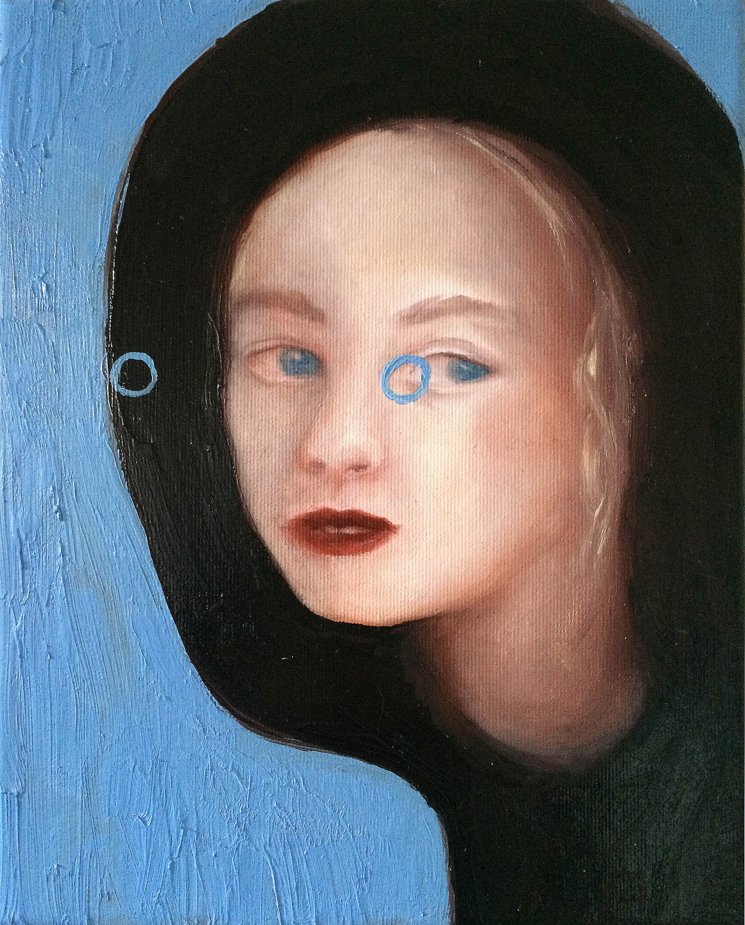 Abduction VIII , 2016, oil on canvas, 30 x 24 cm