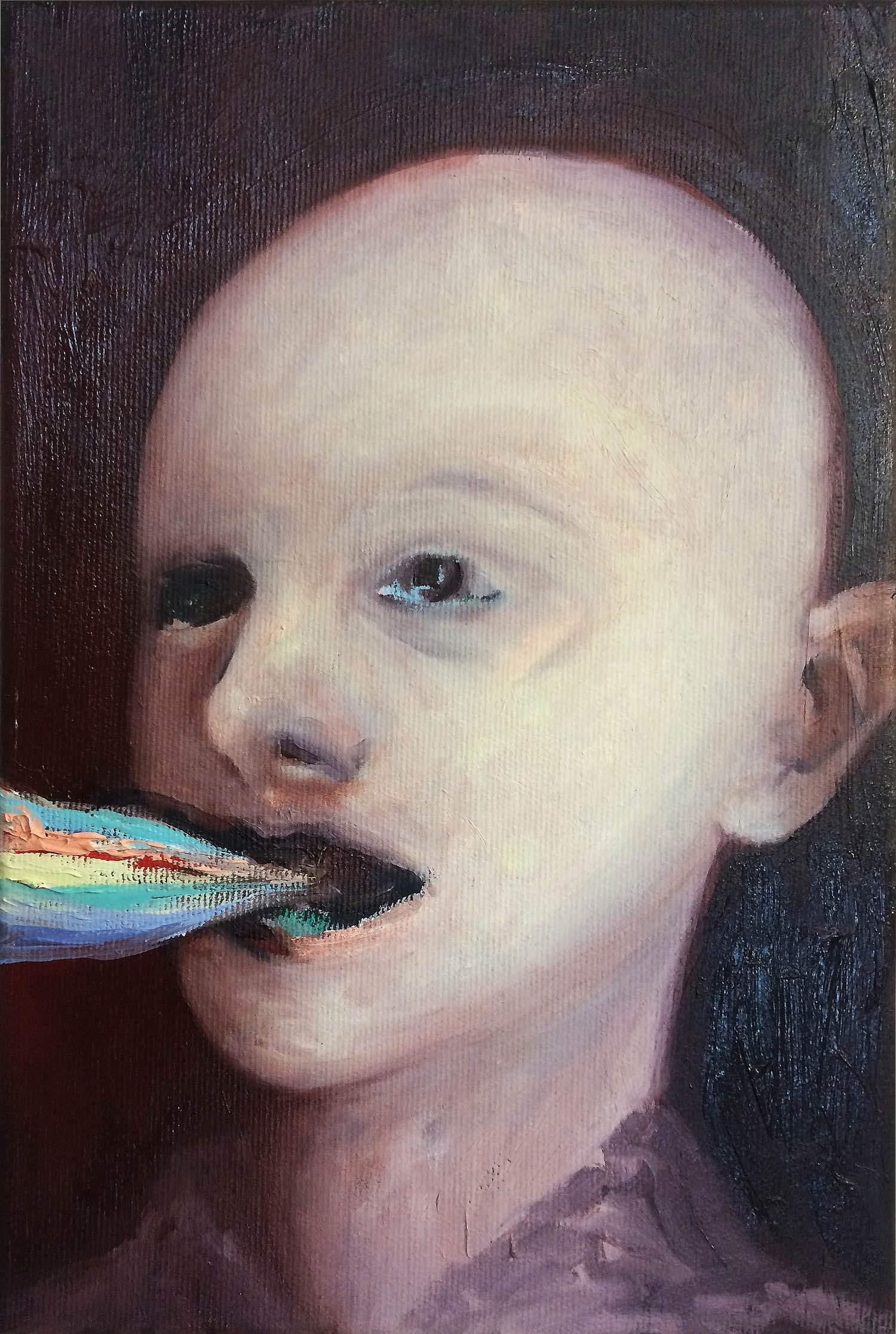 Junge , 2016, oil on canvas, 30 x 20 cm