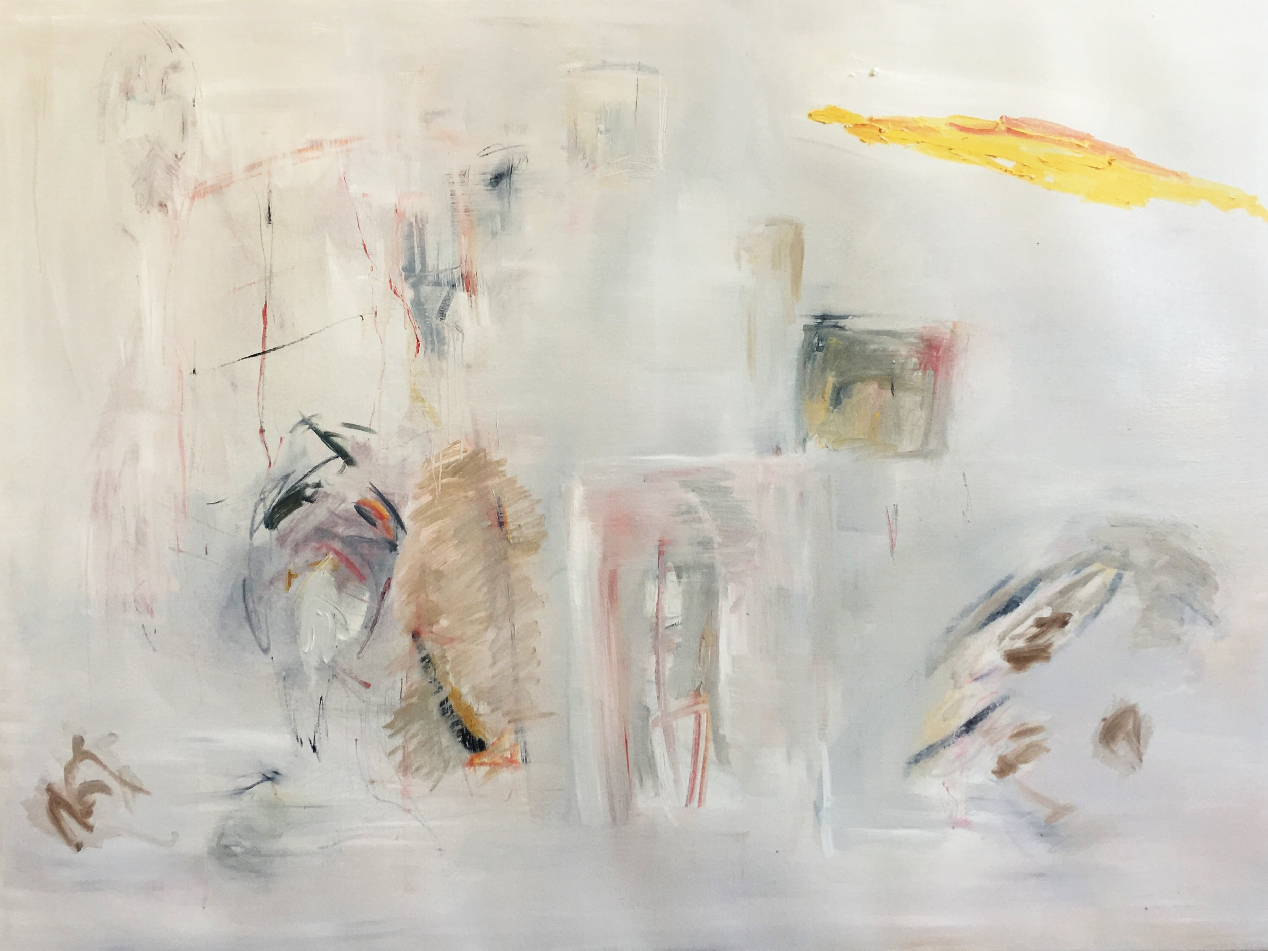 Tomorrow you are not here , 2016, Oil on canvas, 145 x 190 cm