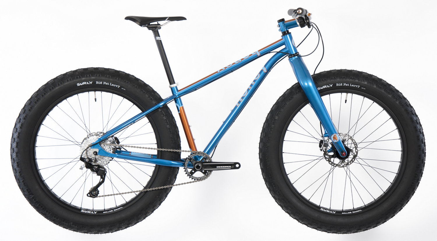 Honey's OffTrail fat bike is a lightweight steel bike that offers a well-constructed frame and the gearing and contact points of your choosing.
