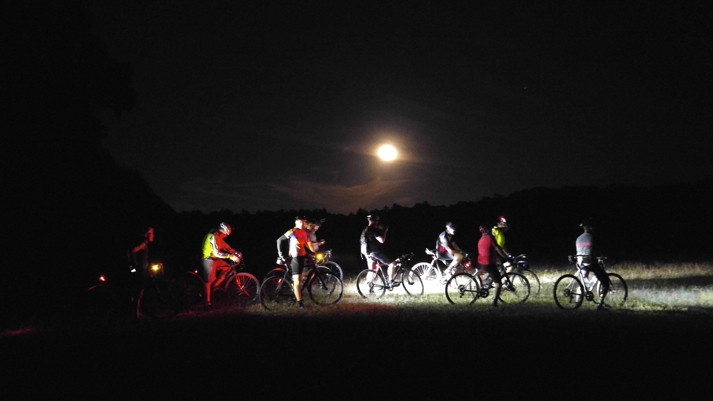 The Full Moon ride runs all year at Ride Headquarters. We find a large number of people are able to enjoy a bike ride after dinner at home with their families.
