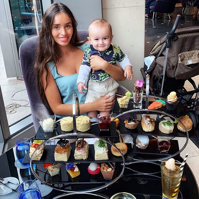 I would say the best high tea I've ever had in my life! @westinmelbourne Leo didn't want to eat his food and decided to lick my scone 😂 he now only wants to eat what I eat so it looks like I'll be eating puréed baby food for a while 😂🤦♀️💕 He's a little food snob already!!!!! #cheekyboy #foodcritic #mama #baby #mumblogger