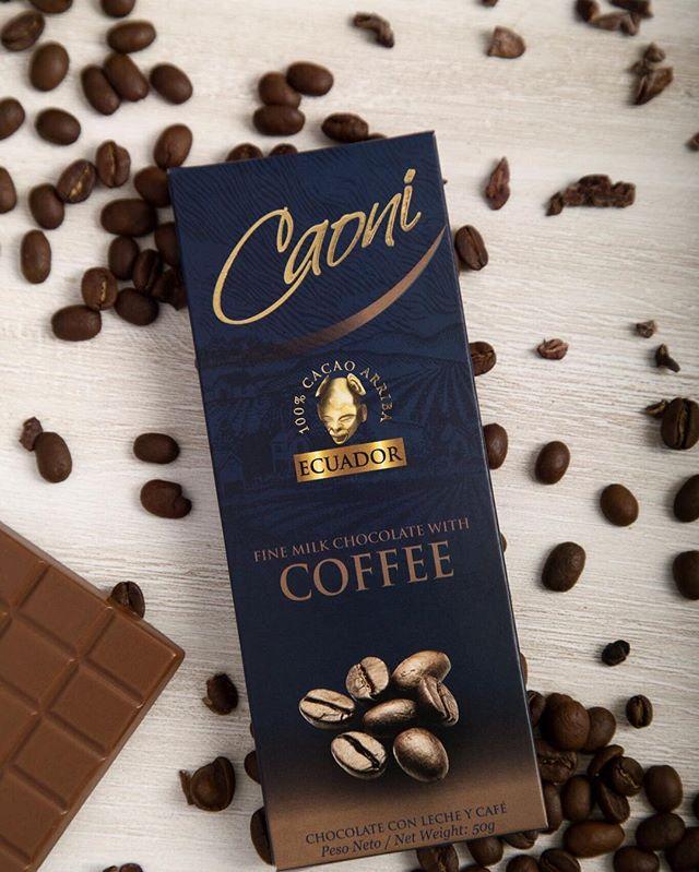 Delicia de viernes: Nuestro chocolate con leche y café. #caonichocolate #premioslonuestro #premiumchocolate #milkchocolate #ecuadorianchocolate #madeinecuador