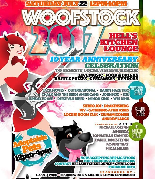 The official flyer for woofstock 2017 is out people!!!!! Come down and rock with us!!!! July 22nd Saturday. Starts at noon till after midnight. #brickcity #newark #localbands #nj #music #musicfestival @marcelobuby @komited_soundz @drummerdudenj @gonzalez.kc