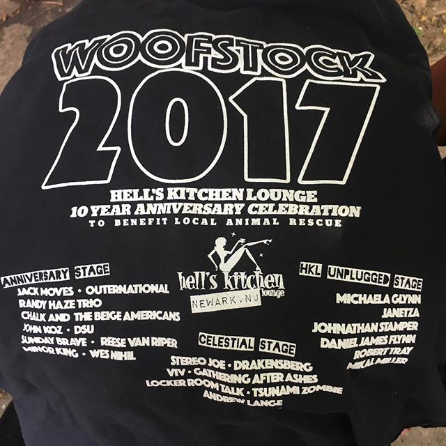 When we on the t shirt bill!!!! #musicfestival #music #nj #localbands #newark #brickcity #hellskitchen