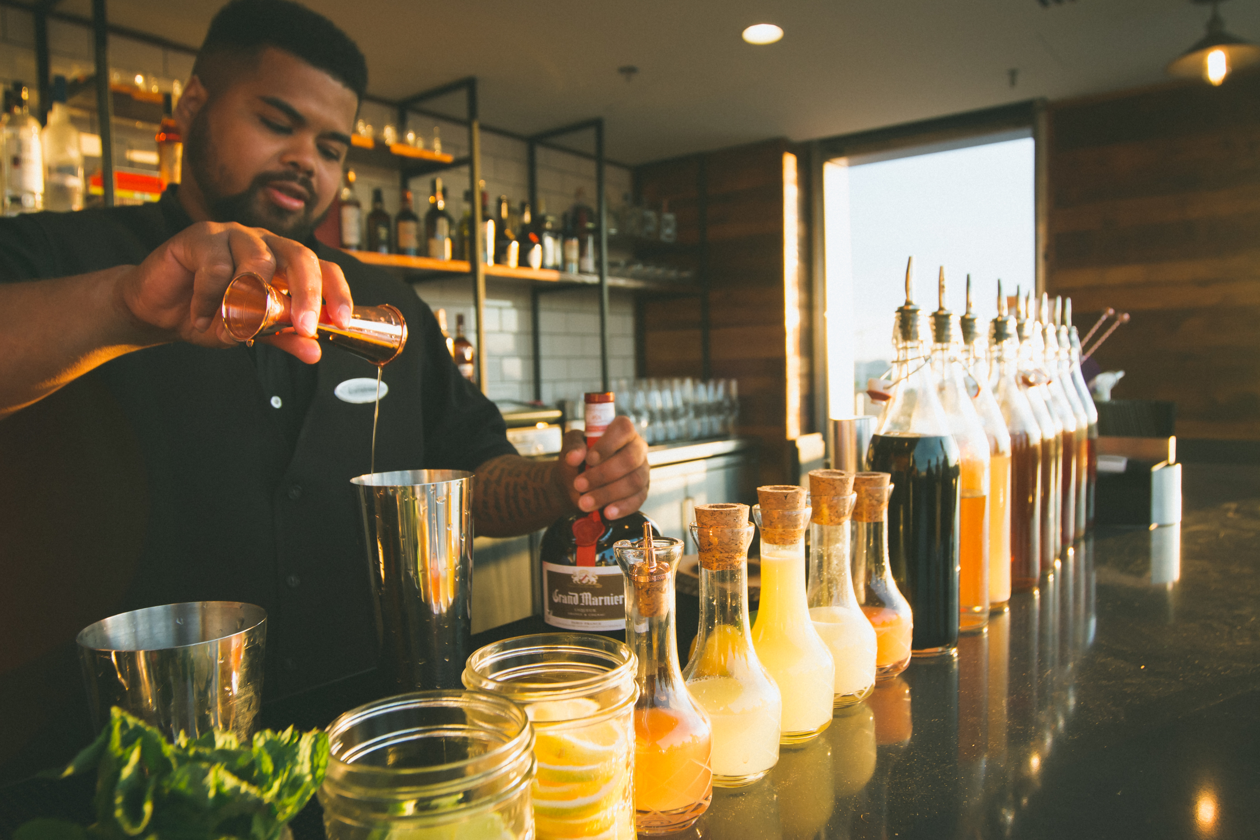 Drinks being made at citybar