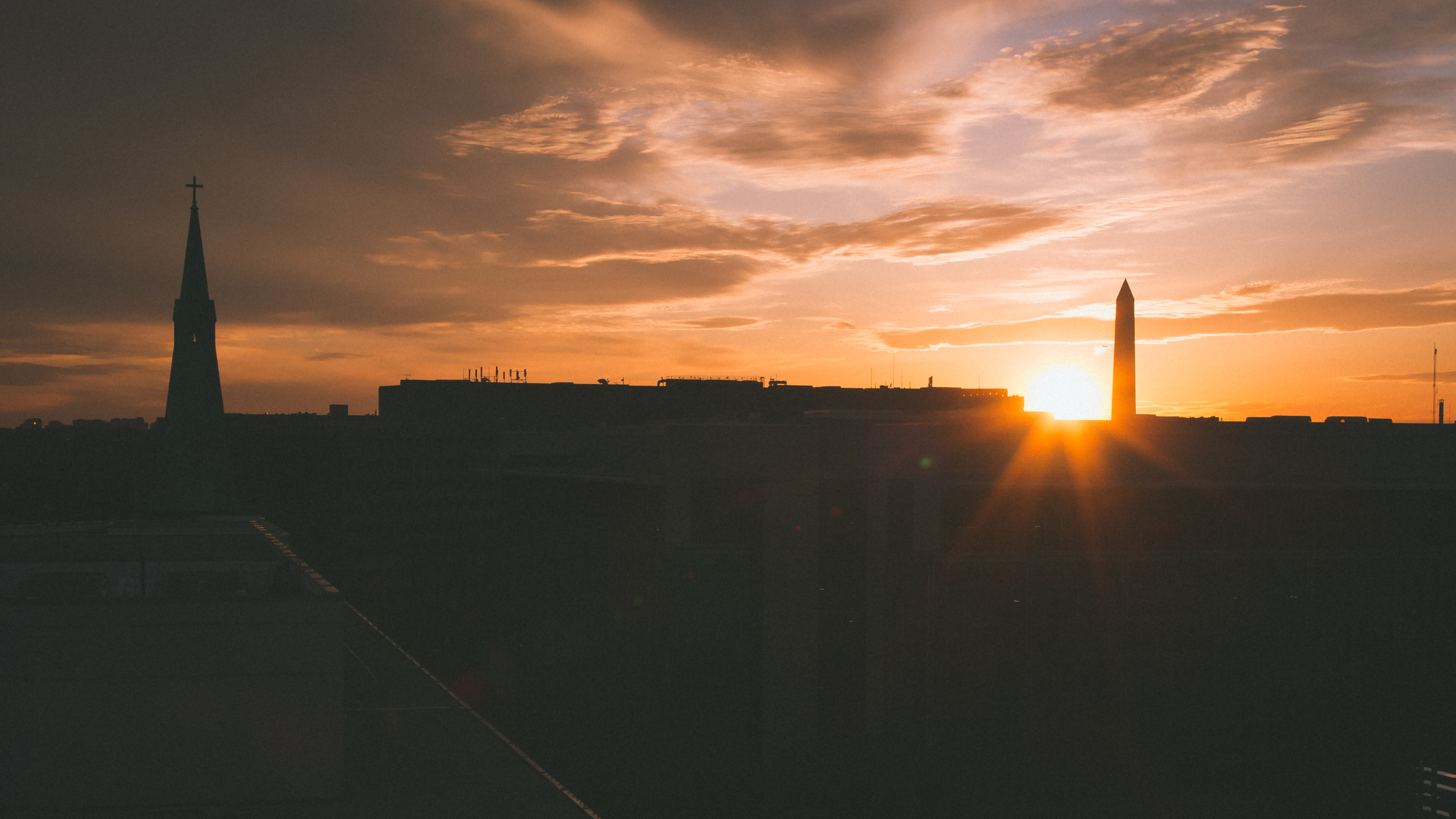 Sunset from our dc hotel