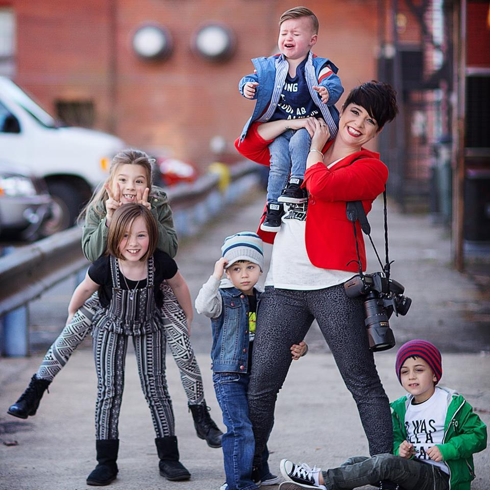 My day job as a child and family portrait photographer. Photo by  Nicki Hufford