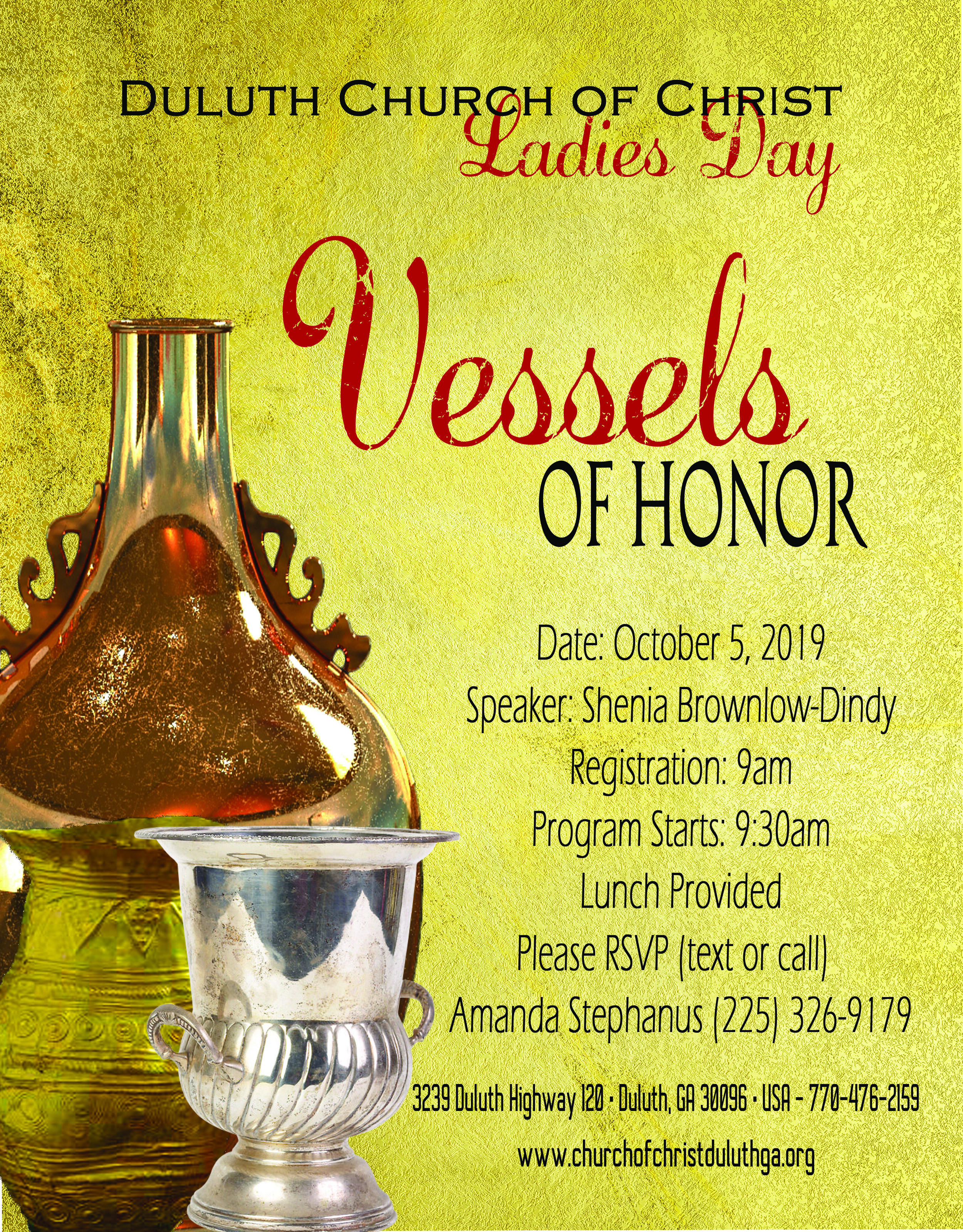 Vessels of Honor  - With: Shenia Brownlow-Dindy