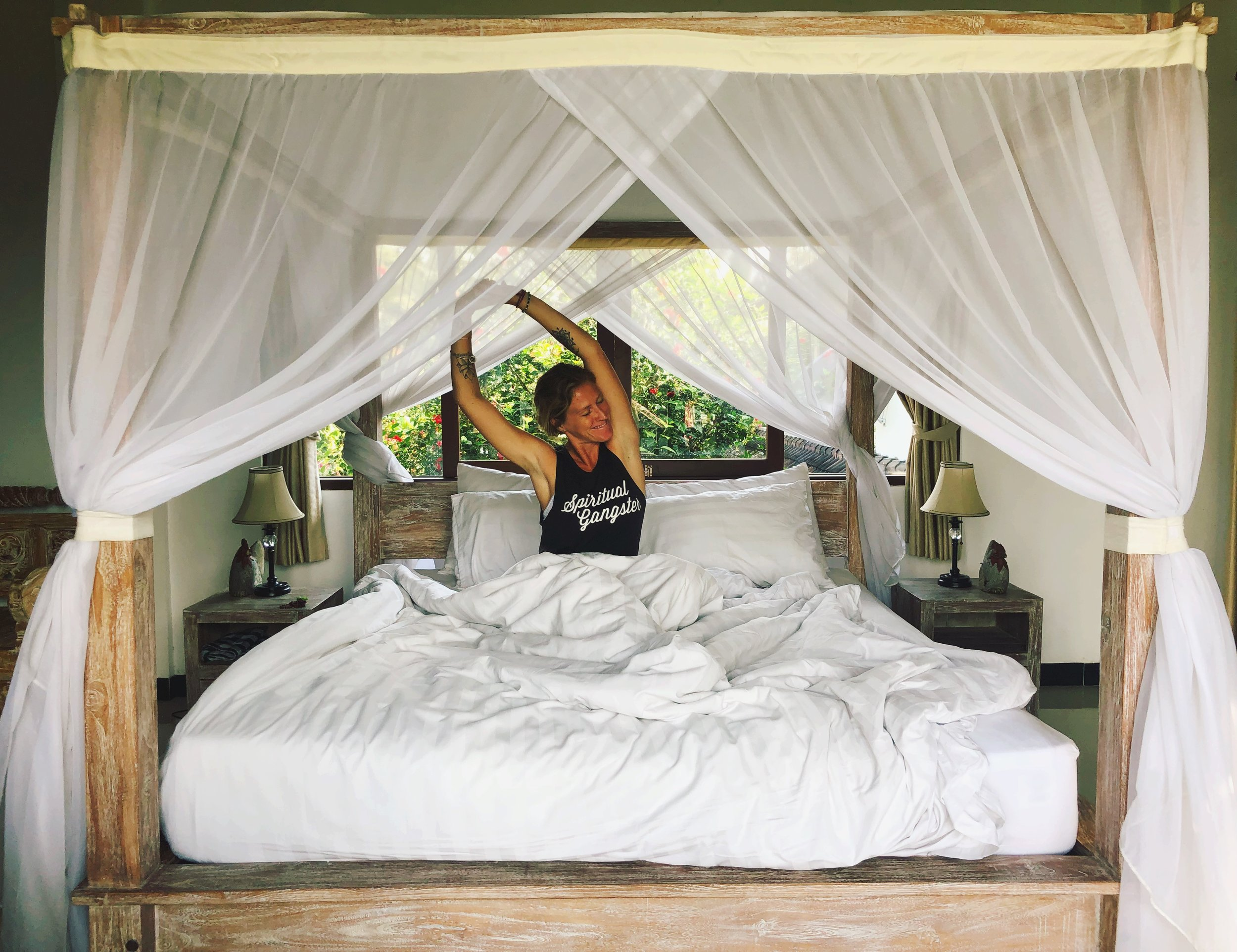 Nothing feels better than waking up from a good night's sleep // Photo by  @mondaynomads