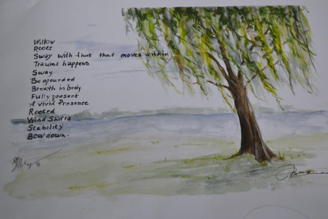 Poem by Linda Riggins. Artwork by Pat McInnes