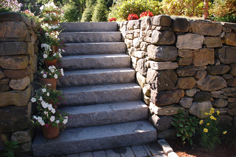Granite Steps and Stone Wall, Westford
