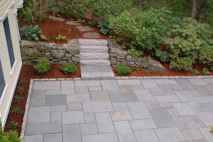 Bluestone Patio and Granite Steps, Westford