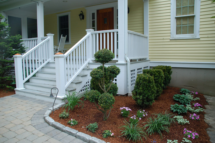 Paver Walkway with Cobblestone Edging, Westford