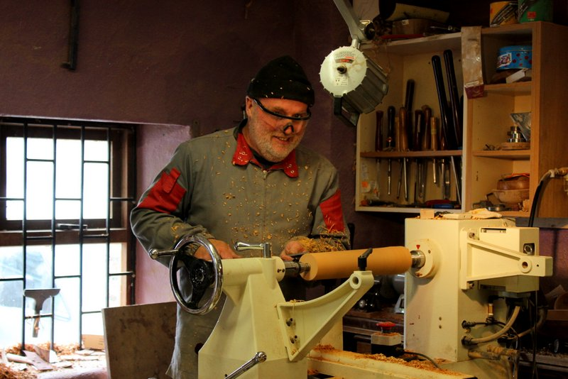 Got a chance to see woodturner Colm Brennan at work