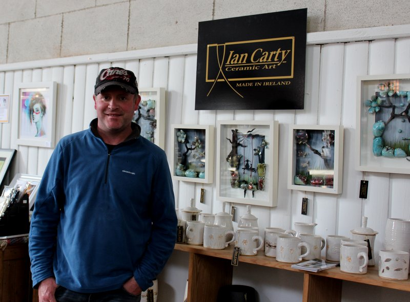 Ian Carty from Ian Carty Ceramics pictured at the shop at Lisadell House. Ian's studio is also at Rathcormac Craft Village