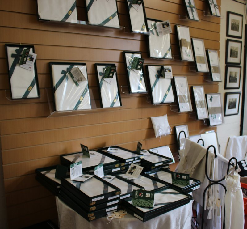 As well as all the innovative linens being woven in Banbridge, Ferguson's also continue to produce traditional damask table cloths, napkins etc.