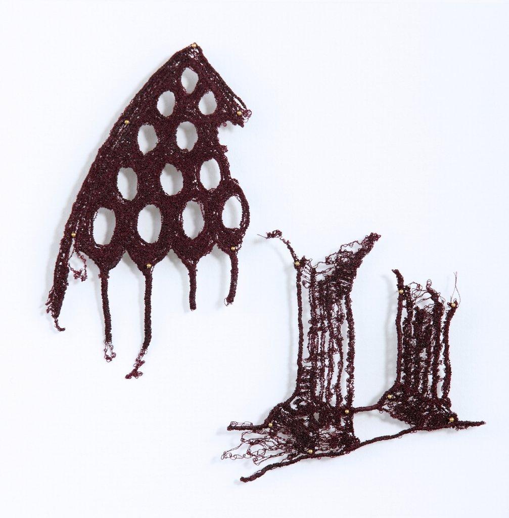 Breda McNelis Textile Artist - Machine stitch on soluble fabric