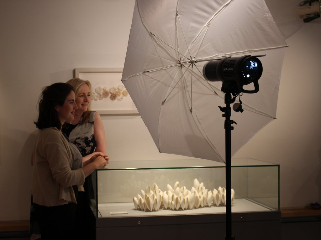 The paparazzi were out in force....with fellow textile artist Ciara Harrison