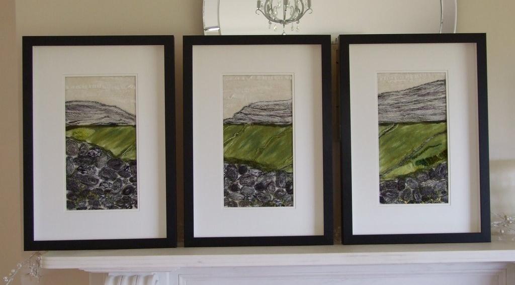 Burren Walls Triptych - Breda McNelis