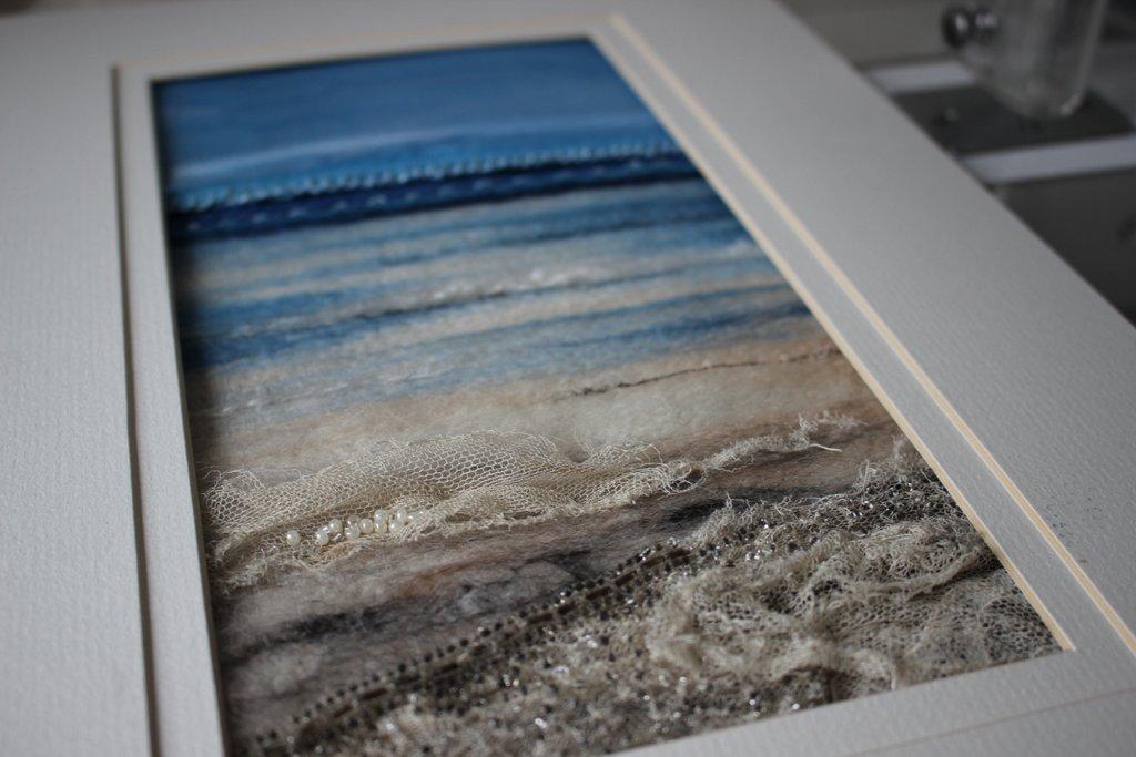 Textile Art Seascape