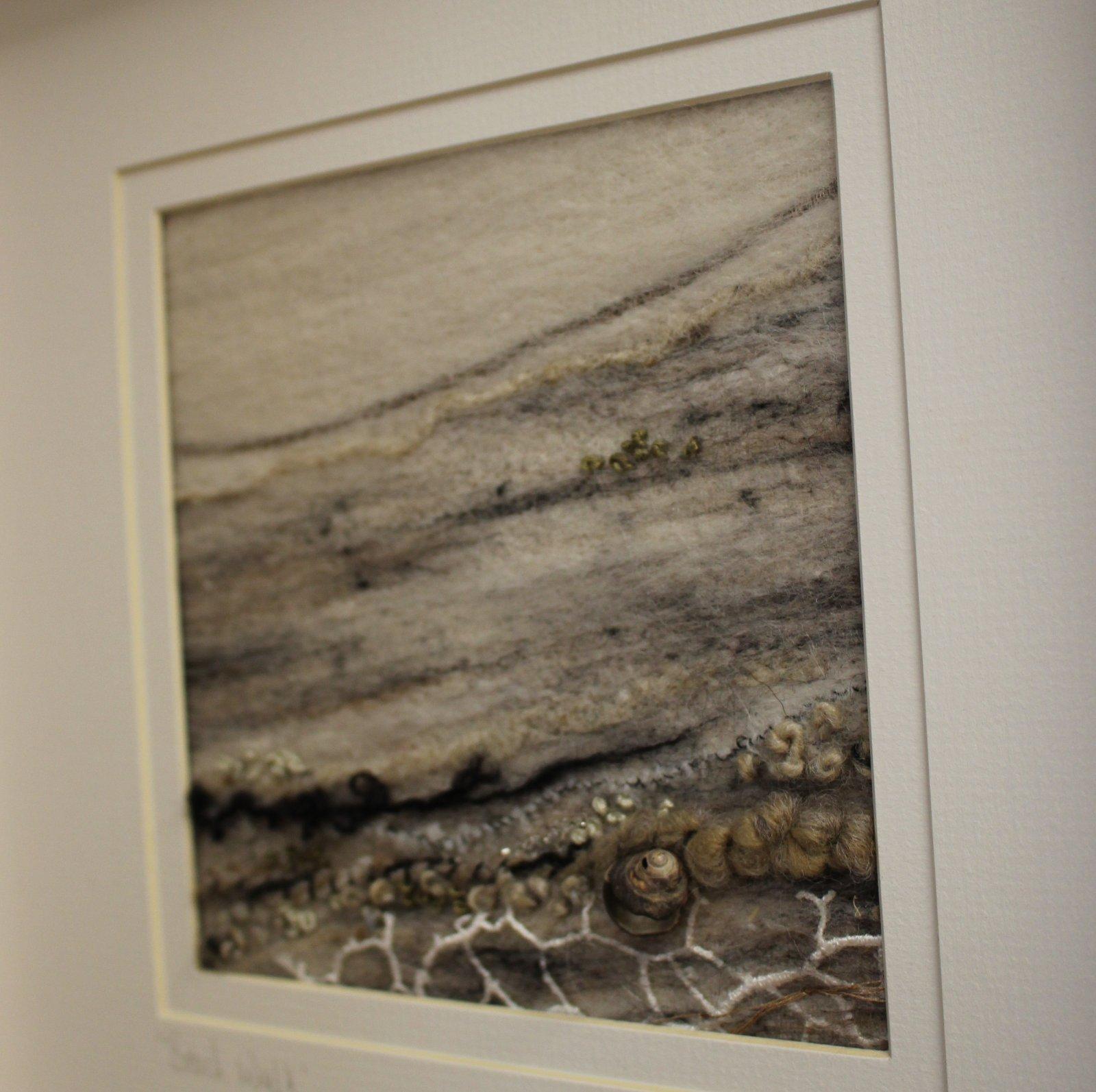 Textile Art Shoreline on linen