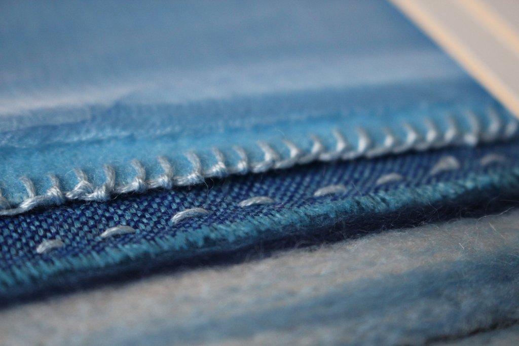 Textile Art Seascape Detail