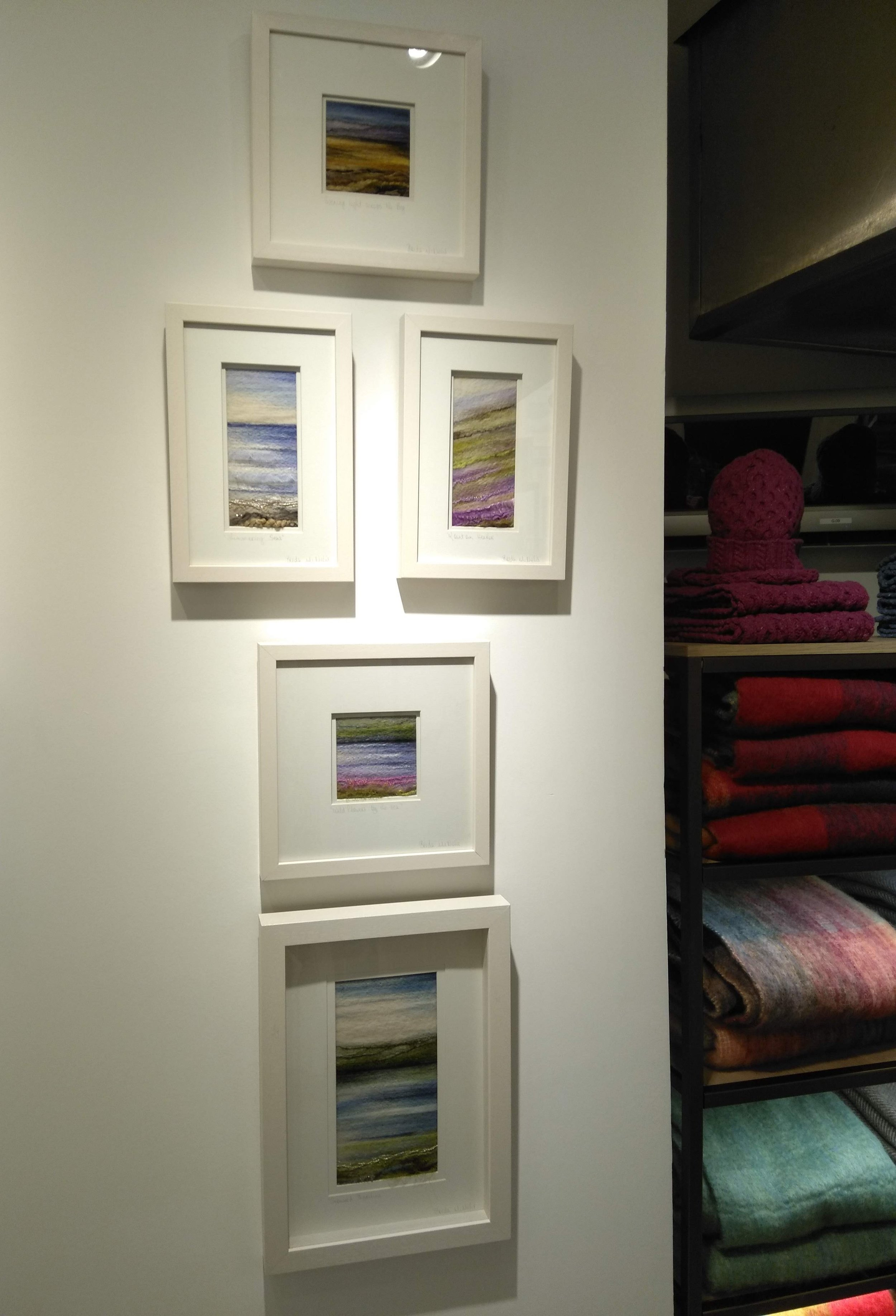 Some of my pieces on display at House of Ireland