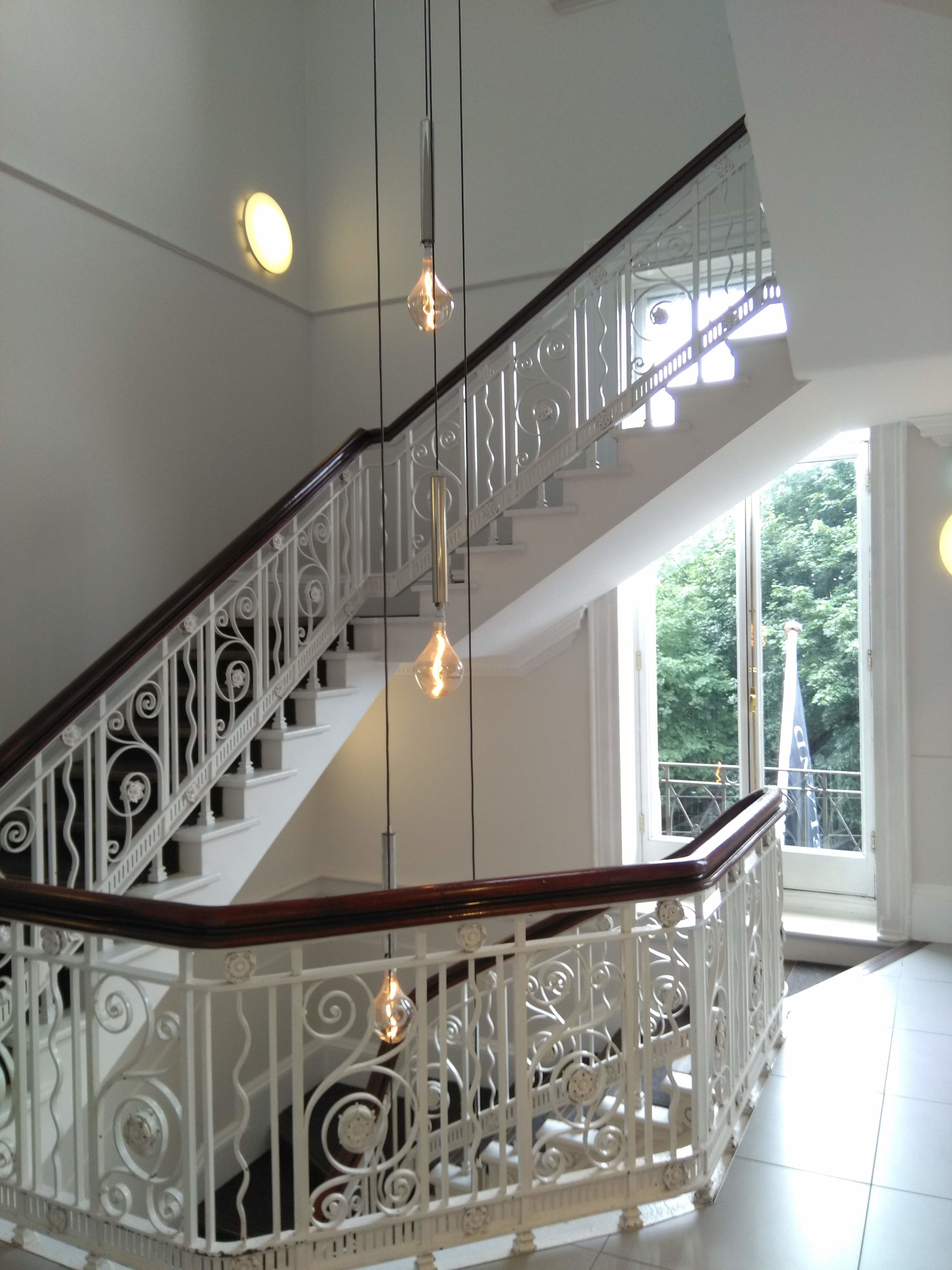 What a stunning staircase, 114 Grafton St is a former bank building and a protected structure from the early 1900's, lovely to see these old features retained