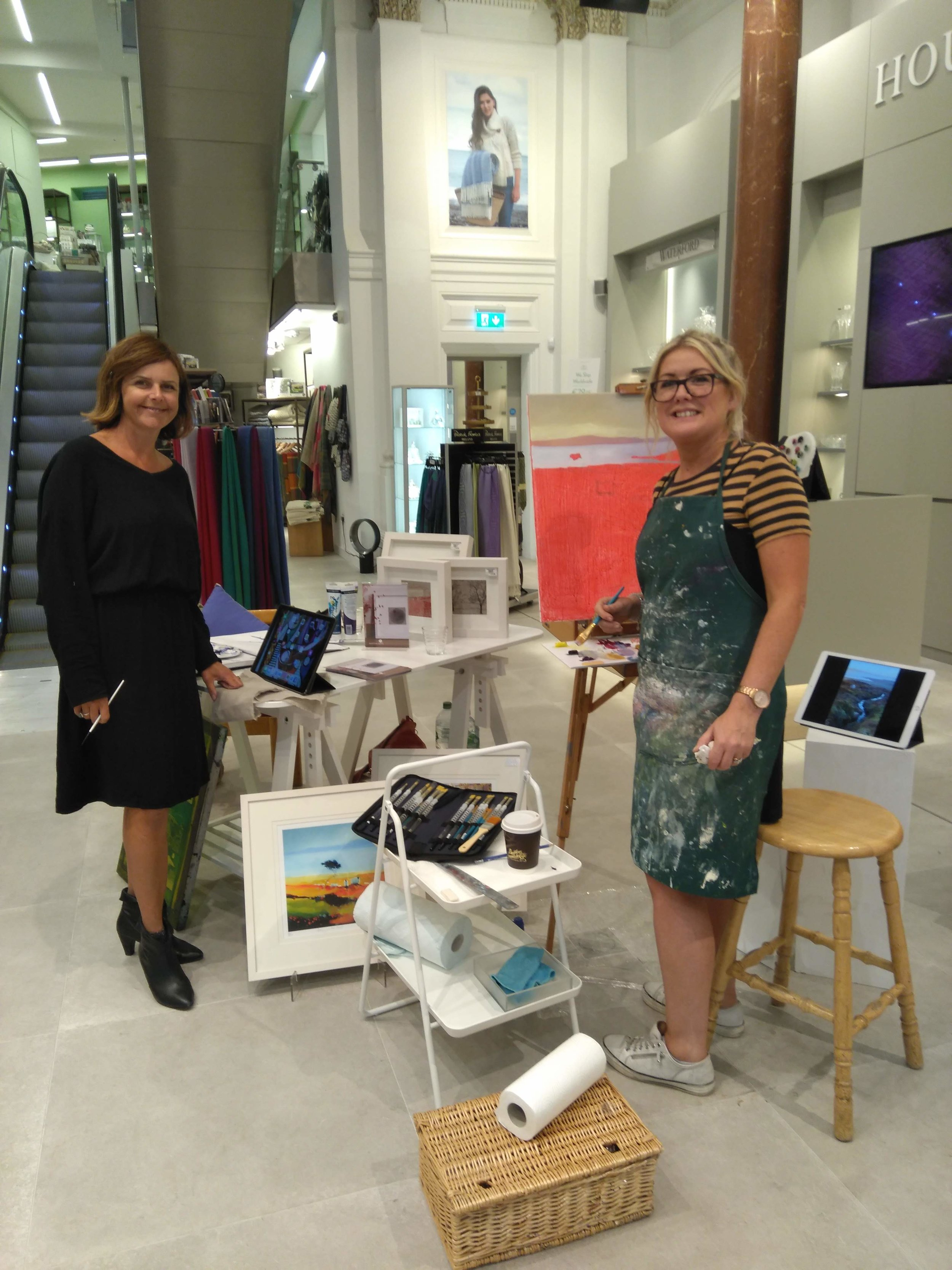 With fellow artists on the day, Martina Scott and Sharon McDaid