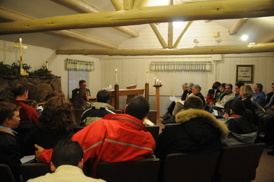 Cranmer Chapel Christmas Eve Service fills to capacity.
