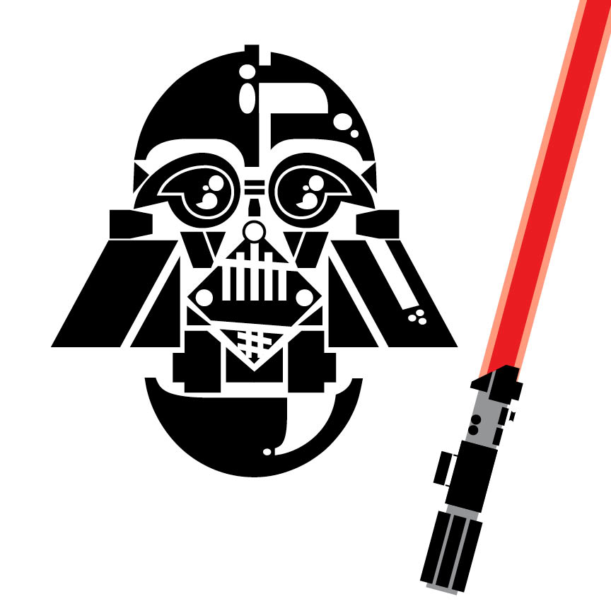Type Portrait: Darth Vader