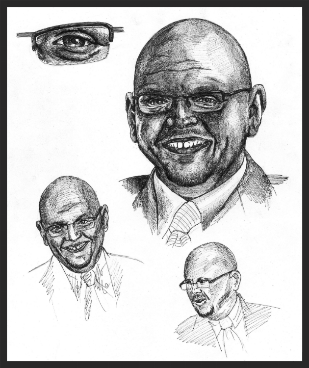 (Very) Rough sketches of Dr. Stuart.
