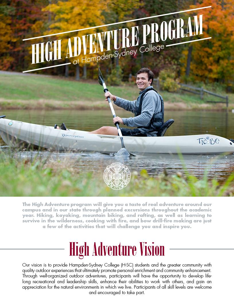 High Adventure Flier