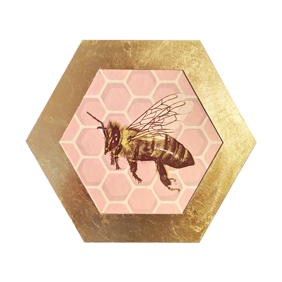 Bee in Hexagon
