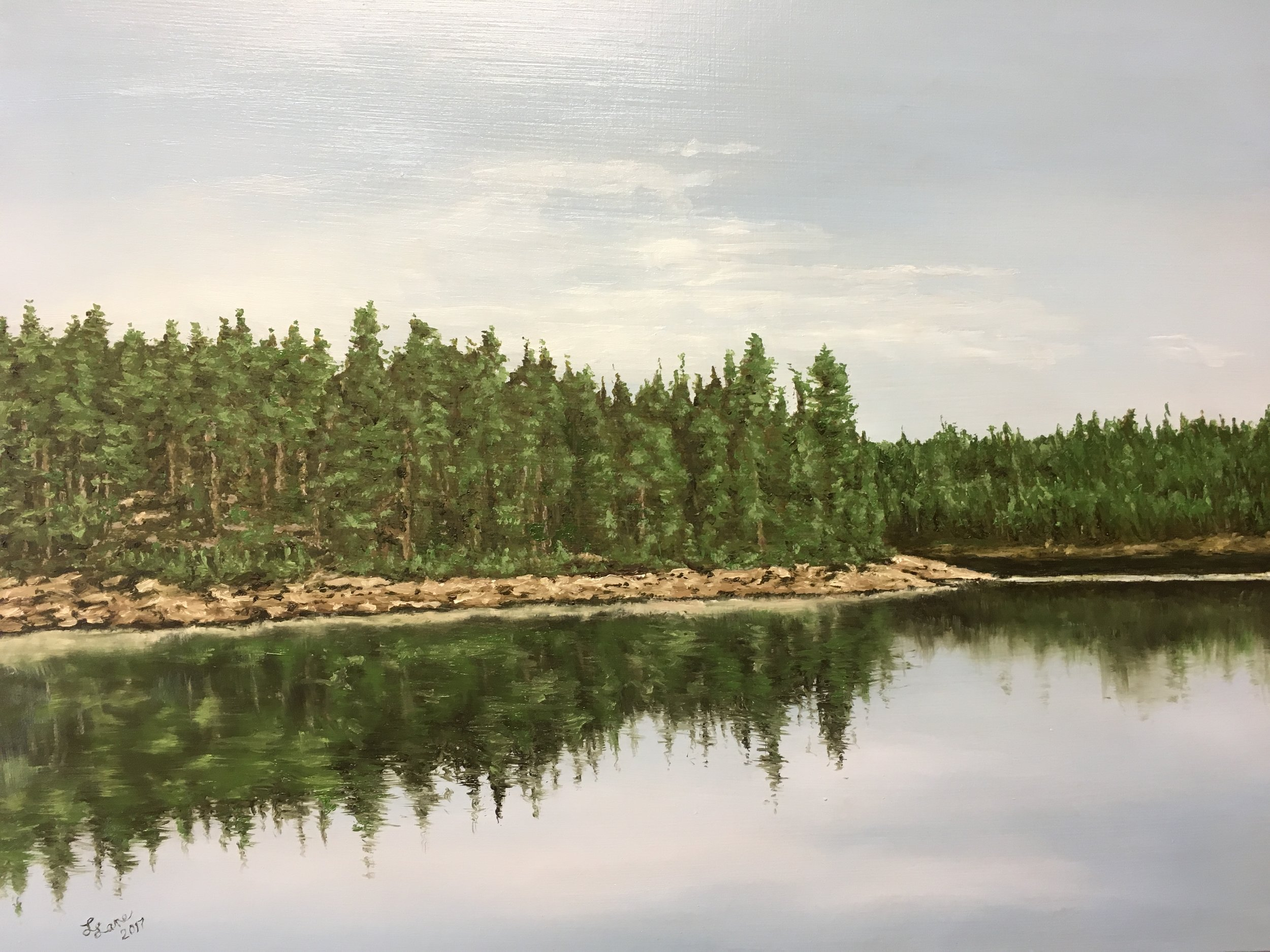 """Trail Creek,"" 2018, 12x16 in., oil on board by Lee Lane"