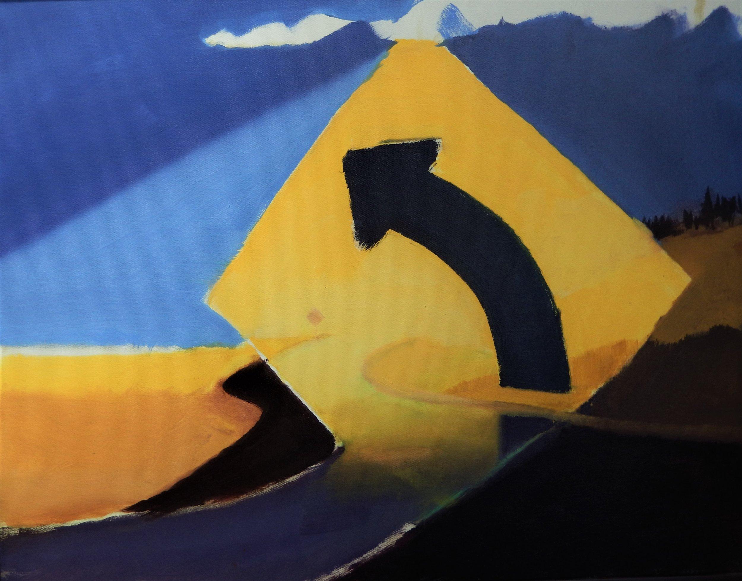 """Break Through"" 22x28"" oil painting, 2017, by Jon Madsen"