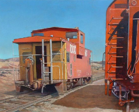 """On the Spur"" oil painting by Jerry Glass"