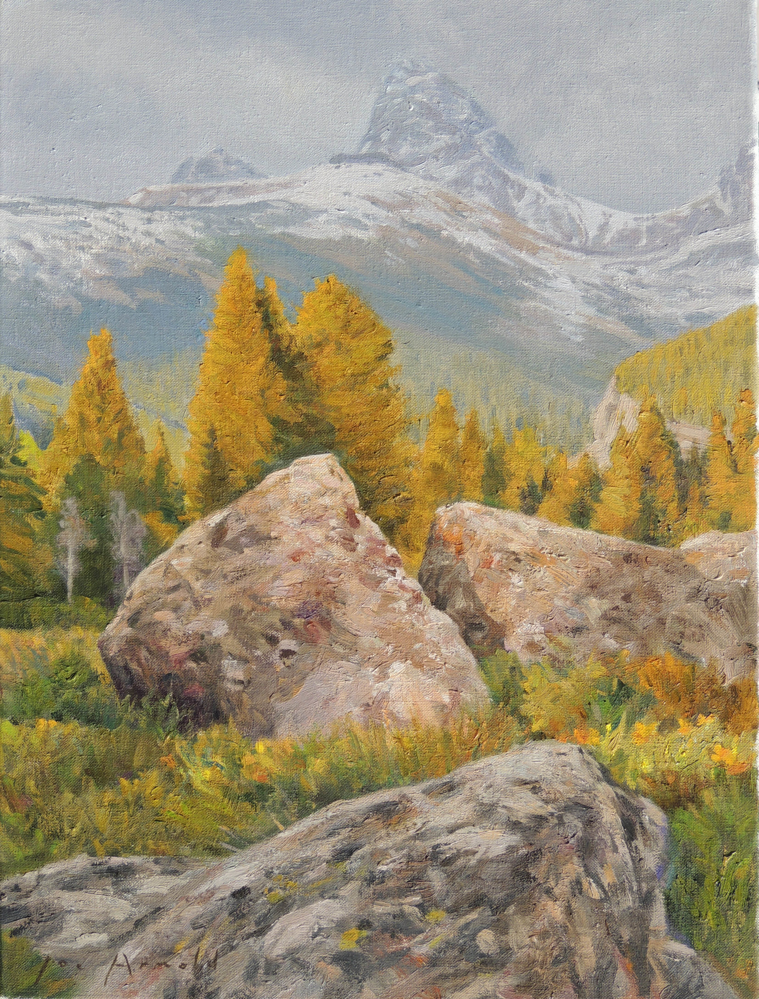 Cascade Canyon, pastel 16 x 19 in. 2018 by Joe Arnold