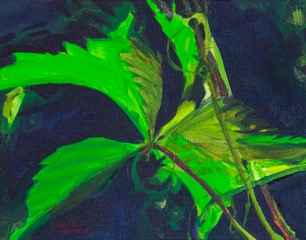 """Spring Woodvine"" original painting by Gail Shive"