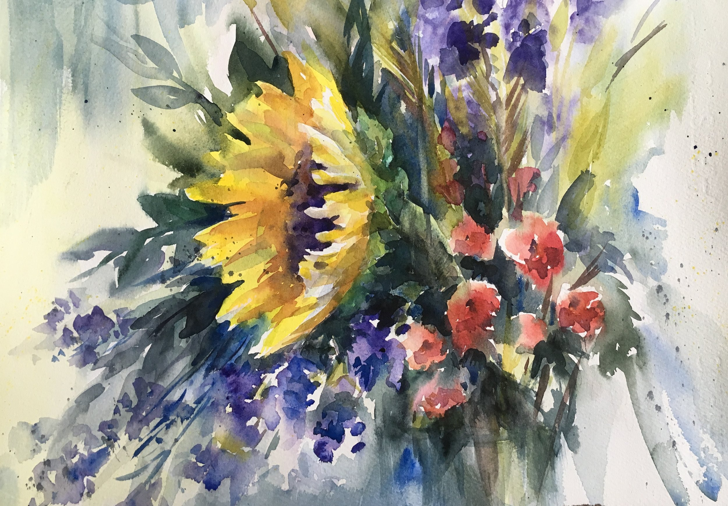 """""""Ready for summer"""" 16x20, Watercolor on watercolor paper by Svetlana Howe"""