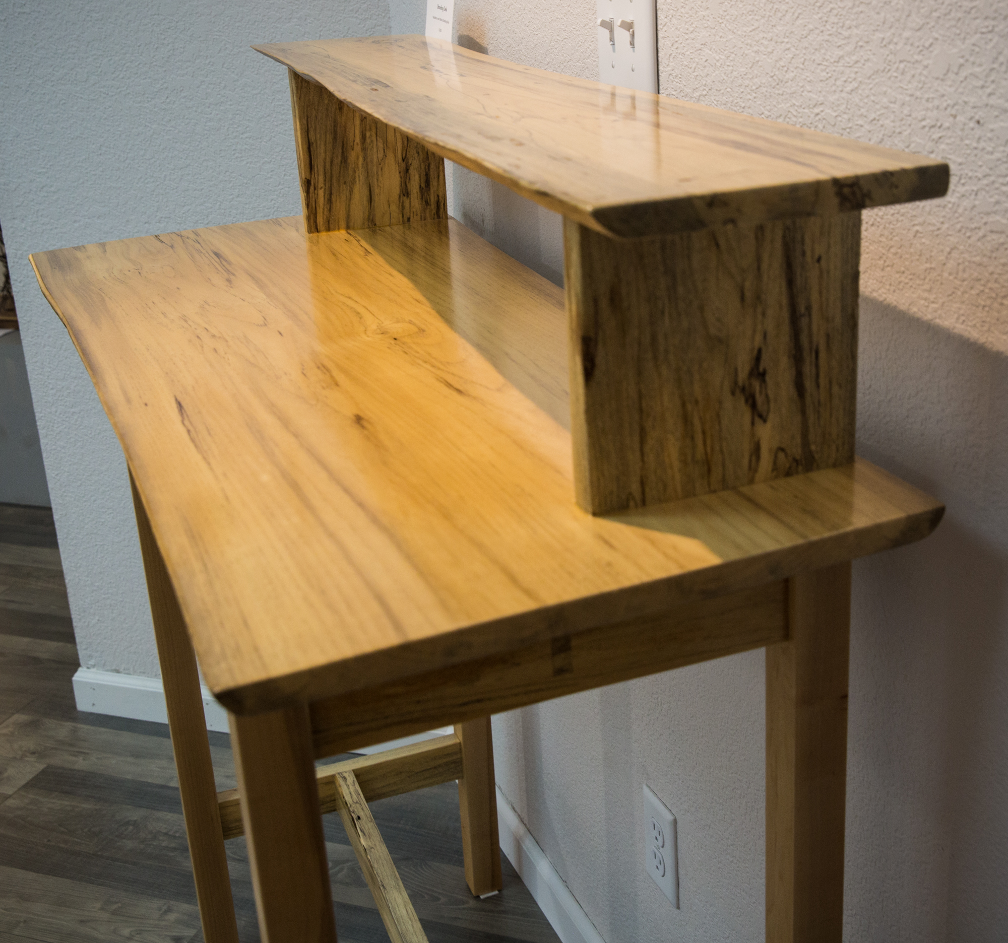 Hackberry and Walnut standing desk by Gary Havener