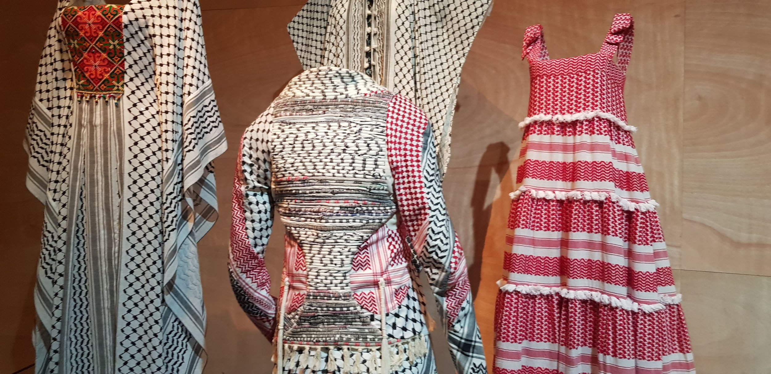 - The Kaffiyeh is charged with national and political meaning and story of its integration into, and the rejection from local fashion. reflects the evolution of the relations between Jews and Arabs in Israel.