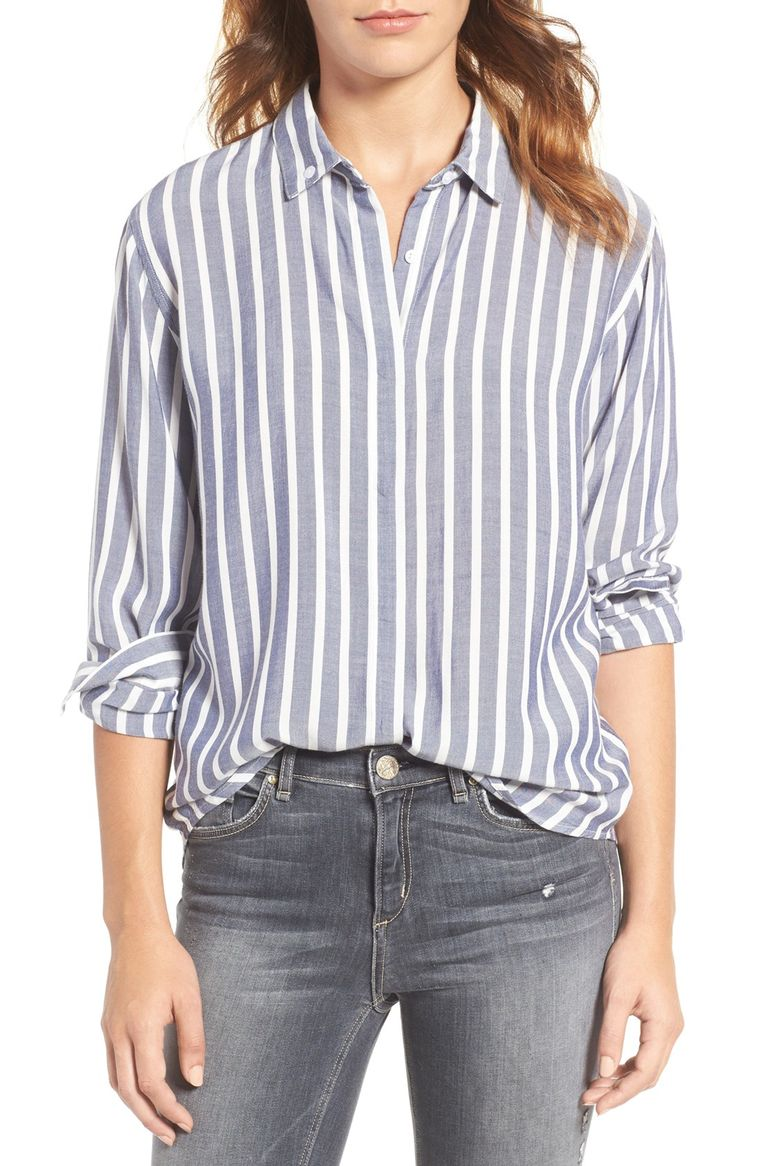 14. Striped Button Up
