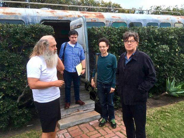 Photo Credit: Broken Record/The Globe and Mail L to R: Rick Rubin, Bruce Headlam, Malcolm Gladwell, Robbie Robertson