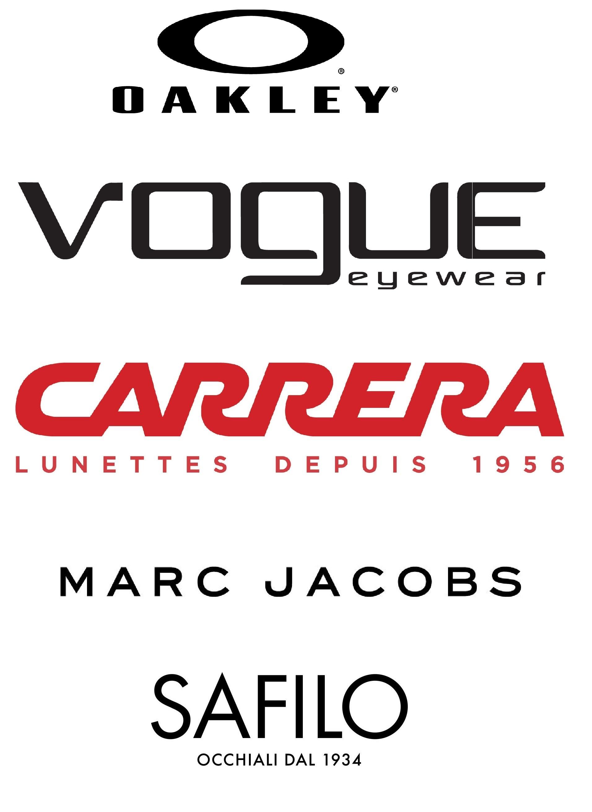 Oakley, Vogue, Carrera, Marc Jacobs, Safilo
